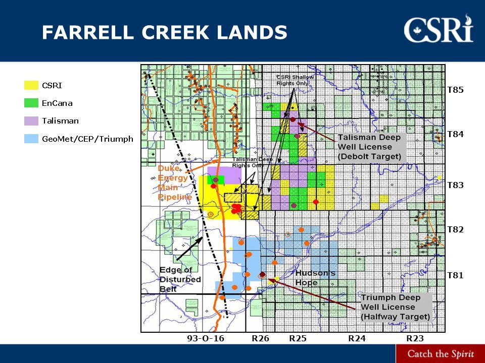 FARRELL CREEK LANDS T83 T82 T81 T84 T85 R23R24R26R2593-O-16