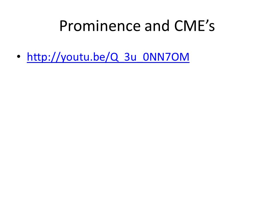 Prominence and CME's http://youtu.be/Q_3u_0NN7OM