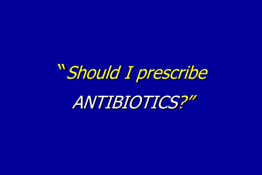 """"""" Should I prescribe ANTIBIOTICS?"""""""