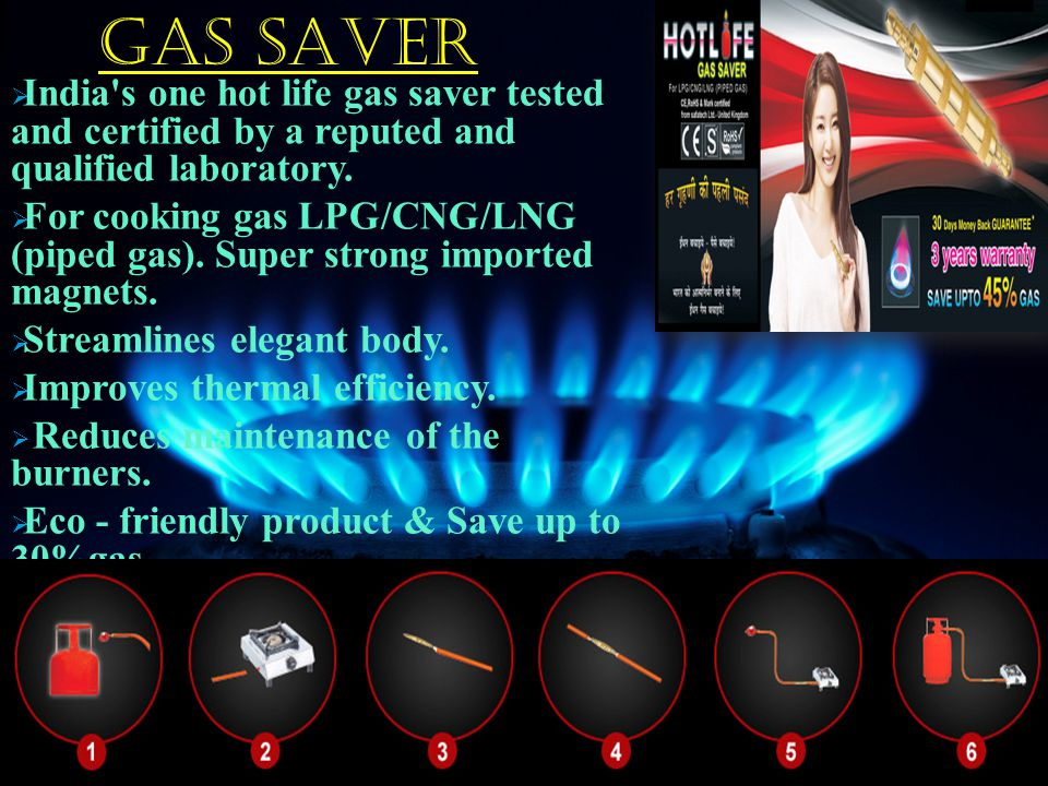 GAS SAVER  India s one hot life gas saver tested and certified by a reputed and qualified laboratory.