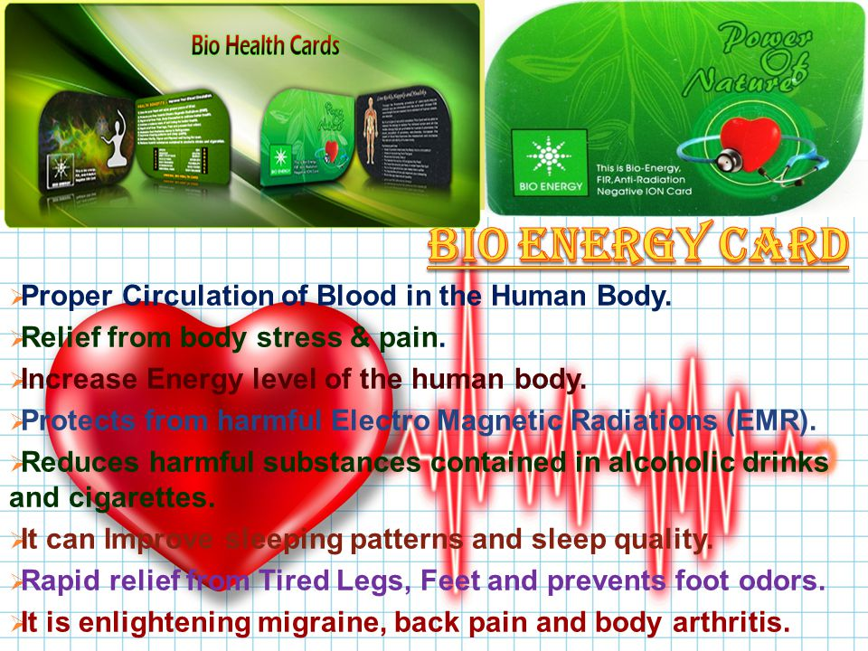 PProper Circulation of Blood in the Human Body. RRelief from body stress & pain.