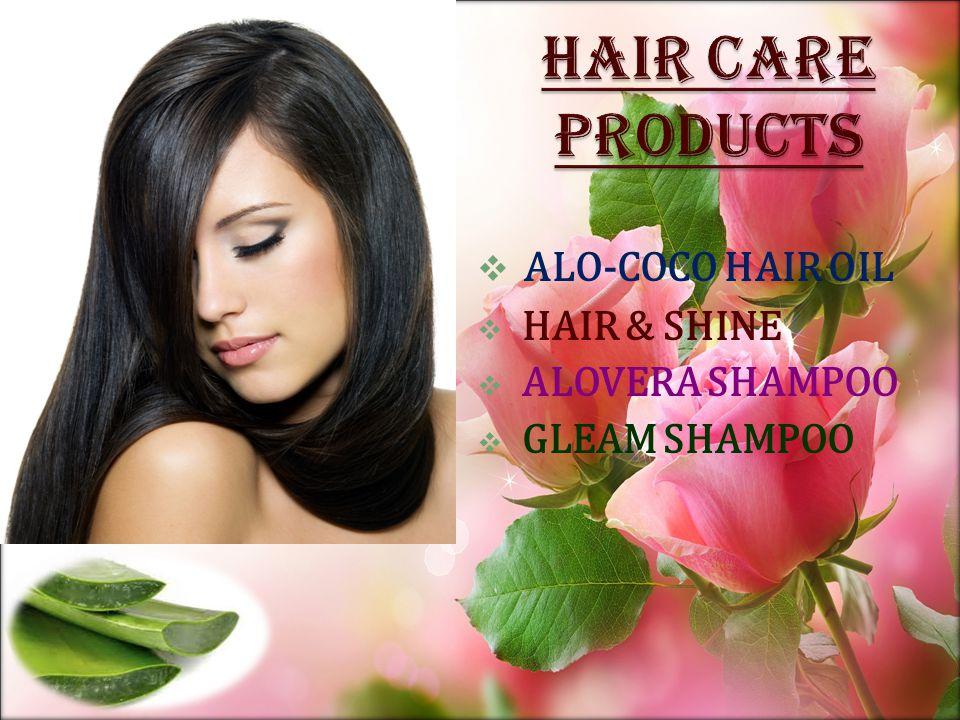  ALO-COCO HAIR OIL  HAIR & SHINE  ALOVERA SHAMPOO  GLEAM SHAMPOO