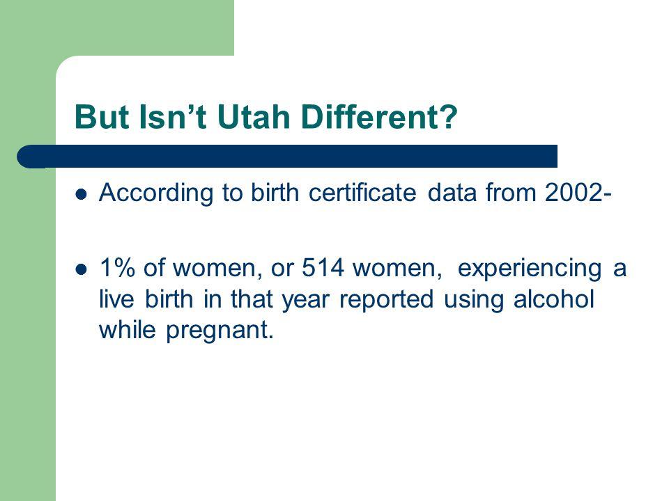 But Isn't Utah Different.