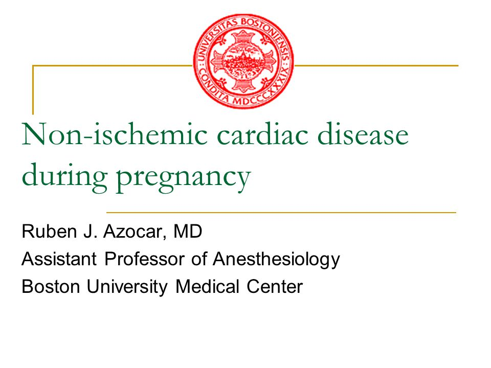 Introduction Although the prevalence of clinically significant maternal heart disease during pregnancy is probably less than 1% its presence increases the risk of adverse maternal, fetal, and neonatal outcomes