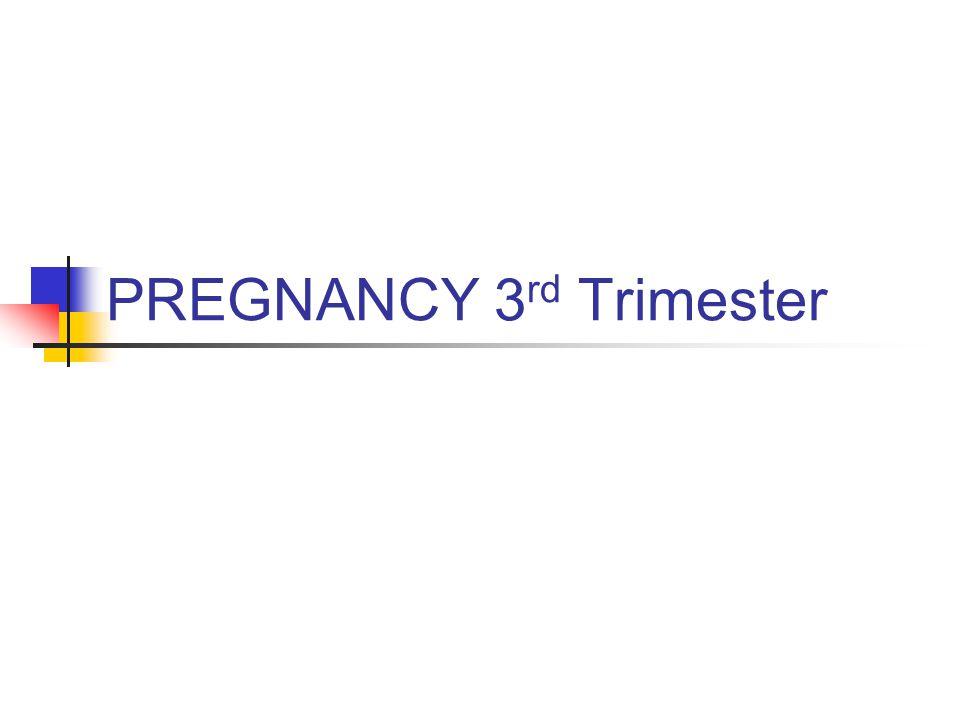 PREGNANCY 3 rd Trimester
