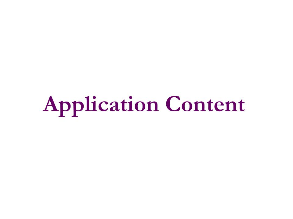 Application Content