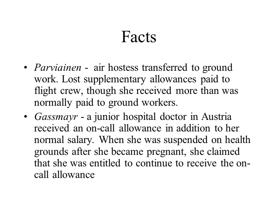 Facts Parviainen - air hostess transferred to ground work.