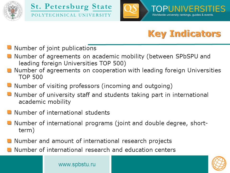 www.spbstu-eng.ru Number of International Students (2007 - 2012) Number of International Students (2007 - 2012) INTERNATIONAL ACTIVITIES