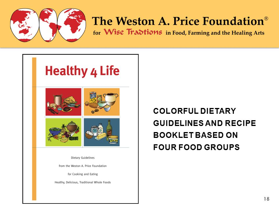 COLORFUL DIETARY GUIDELINES AND RECIPE BOOKLET BASED ON FOUR FOOD GROUPS 18