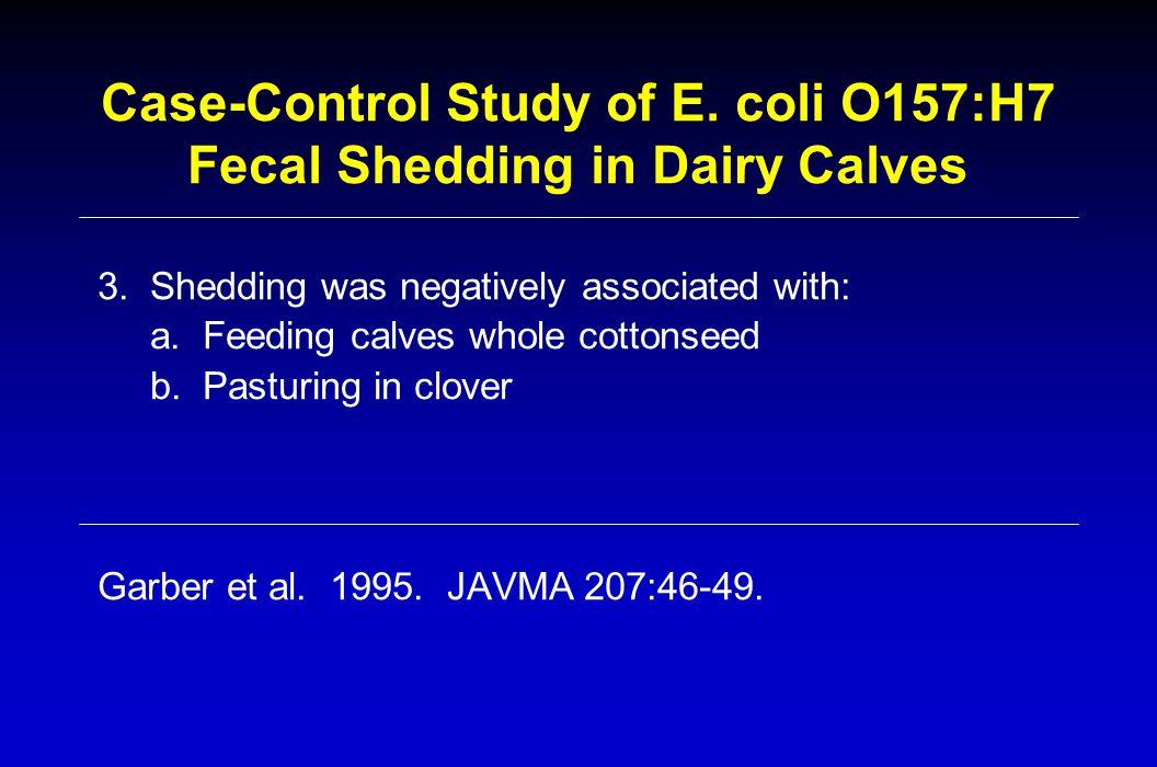 Case-Control Study of E.