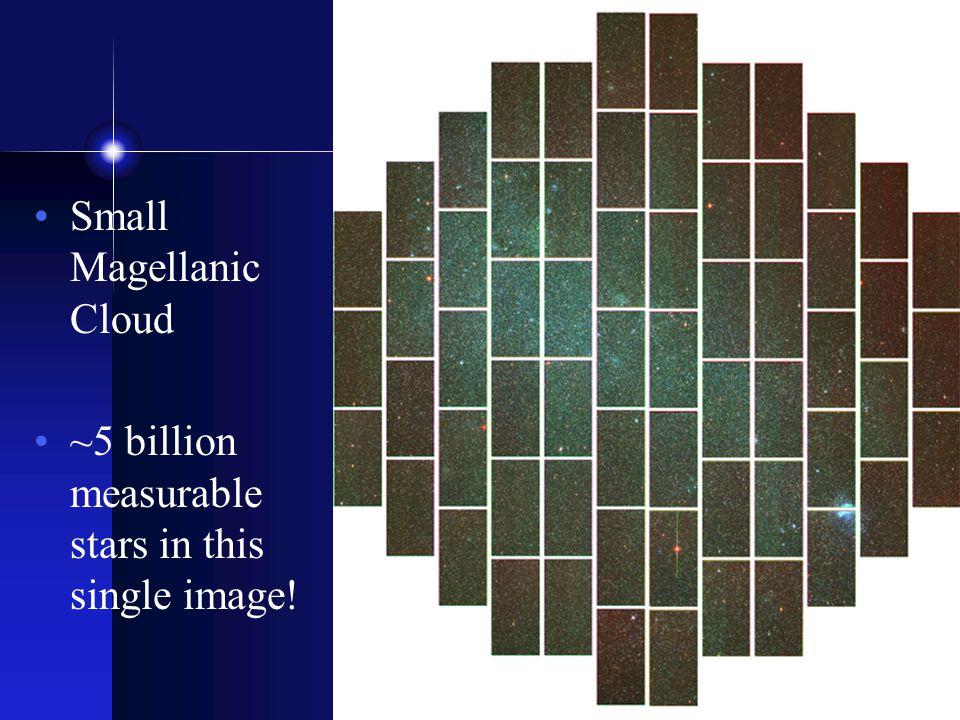 Small Magellanic Cloud ~5 billion measurable stars in this single image.