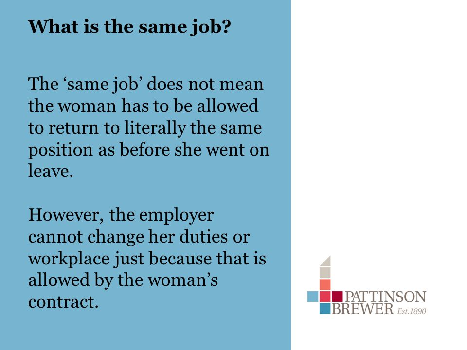What is the same job.