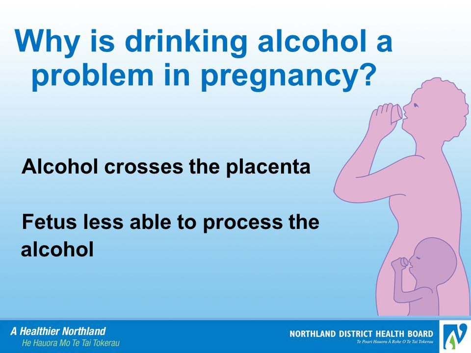 Why is drinking alcohol a problem in pregnancy.