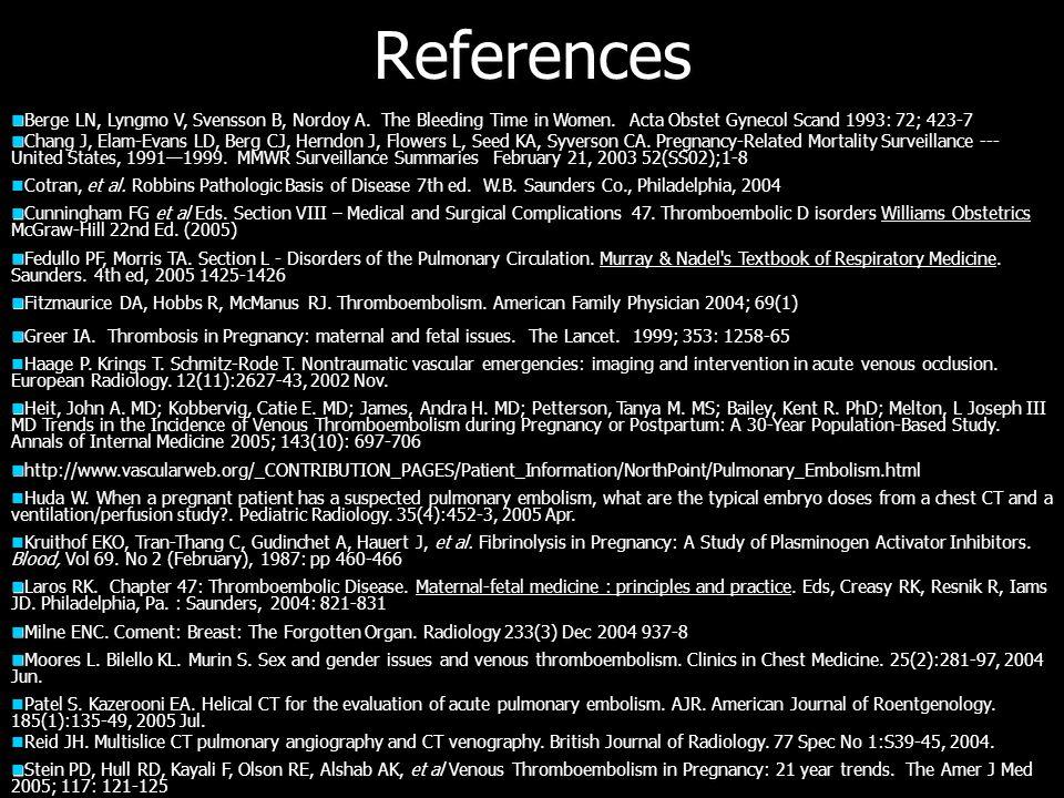 References Berge LN, Lyngmo V, Svensson B, Nordoy A.