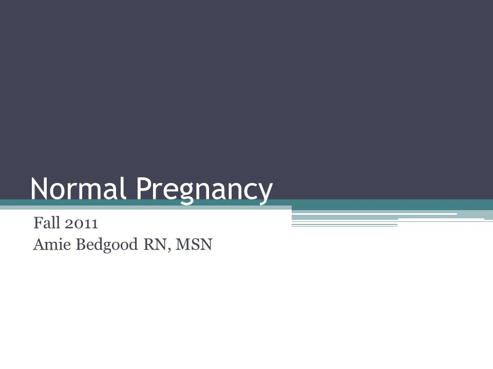 Normal Pregnancy Fall 2011 Amie Bedgood RN, MSN