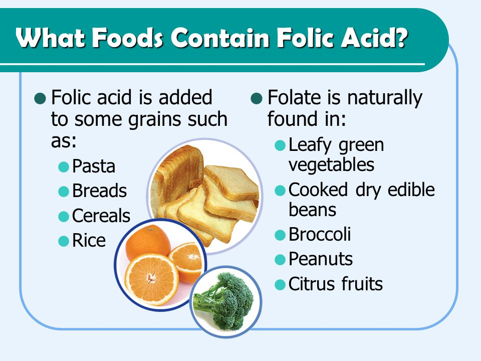 What Foods Contain Folic Acid.