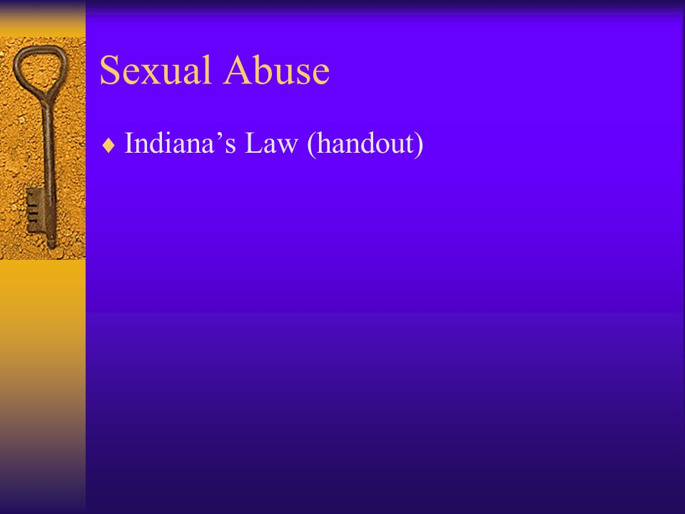 Sexual Abuse  I.