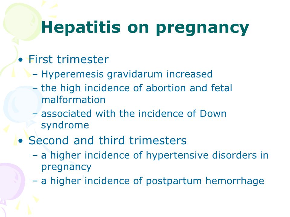 Management of Acute Viral Hepatitis in Pregnancy Establish type by serologic test Institute appropriate isolation and precautions Determine need for contact prophylaxis with scrum globulin preparation and/or vaccine Activity: determined by tolerance Diet: patient preference, parentral if necessary Antiemetics: phenothiazines may be used Corticostcroids: not indicated Immunoprophylaxis of infant: if hepatitis B is present