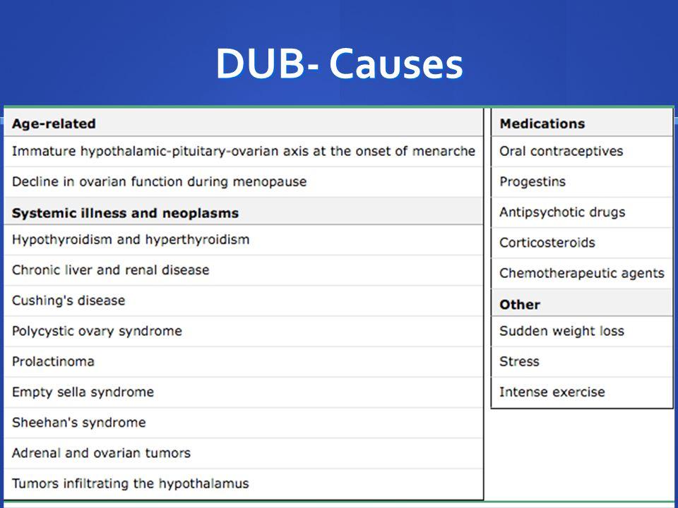 DUB- Causes