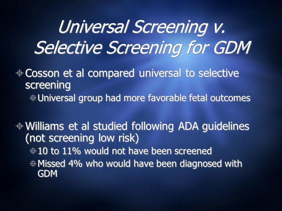 Universal Screening v.