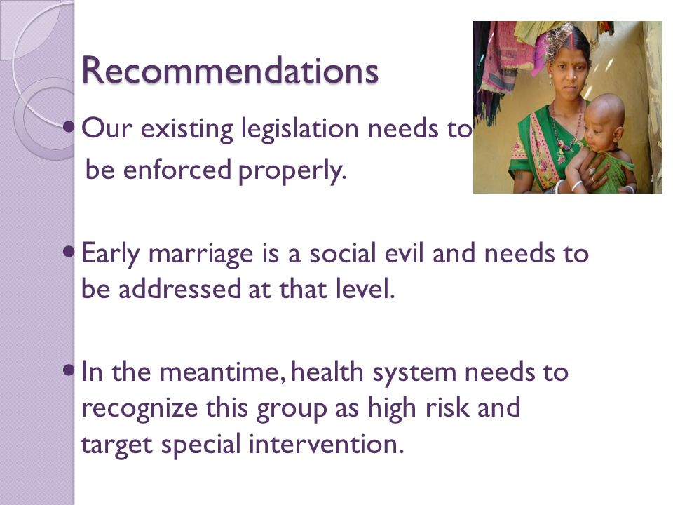 Recommendations Our existing legislation needs to be enforced properly.