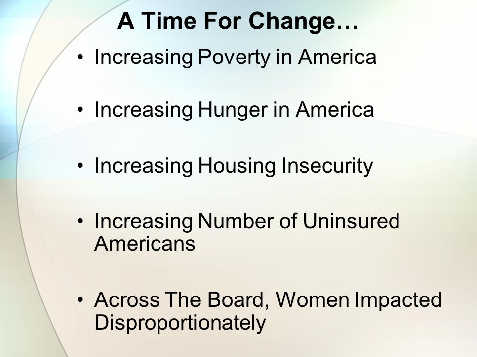 America's Silent Crisis Yet, as the depth and breadth of poverty, food, housing, and health care insecurity has grown over the years, efforts to address these challenges have declined.