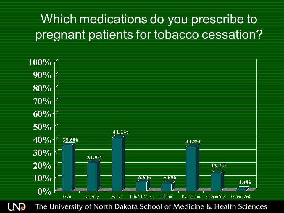 Which medications do you prescribe to pregnant patients for tobacco cessation?