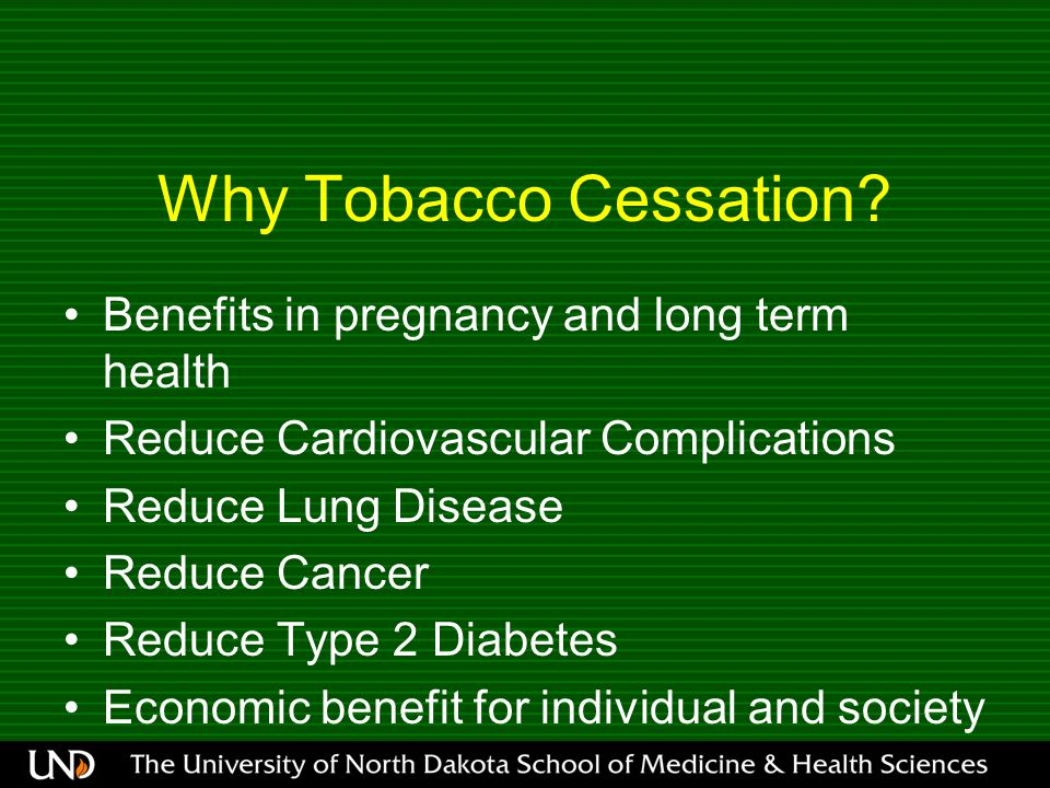 Why Tobacco Cessation.