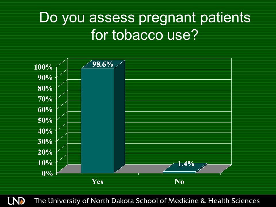 Do you assess pregnant patients for tobacco use?