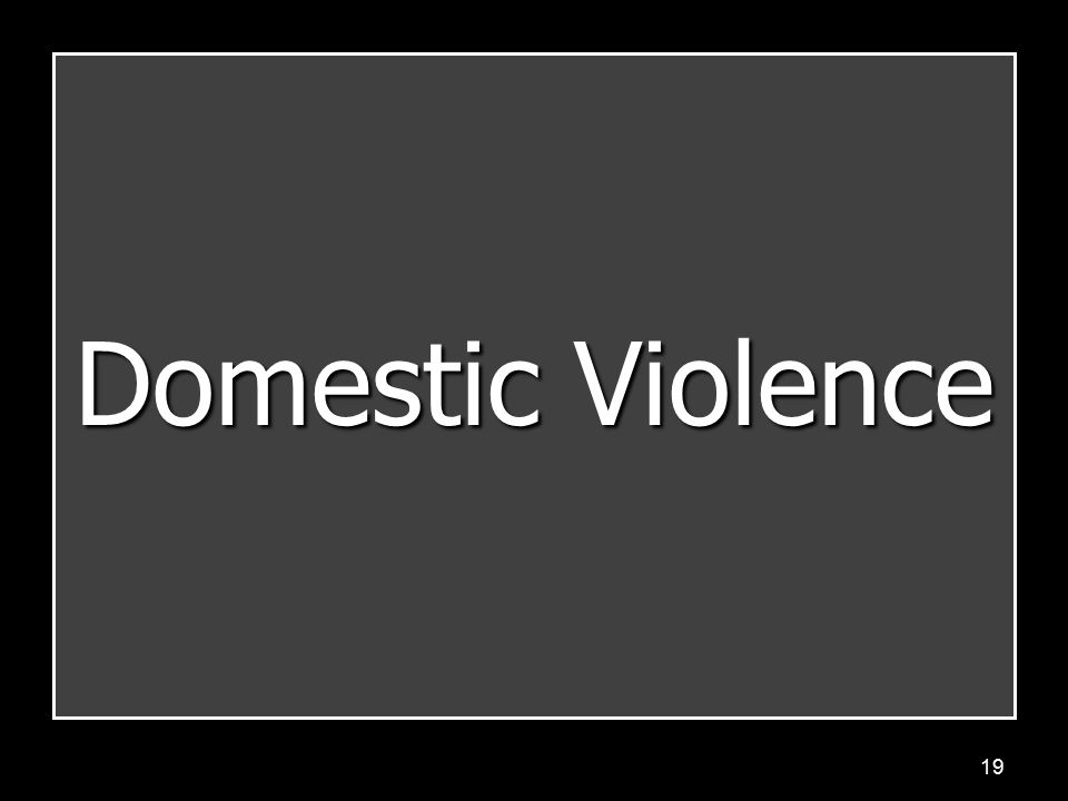 19 Domestic Violence