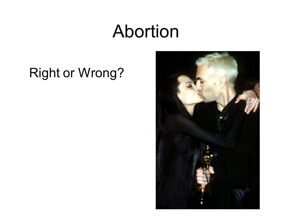 Abortion Right or Wrong?
