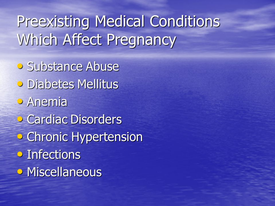 Substance Abuse Includes legal and illegal substances Includes legal and illegal substances Legal implications involved Legal implications involved Impairment of mother-infant bonding Impairment of mother-infant bonding