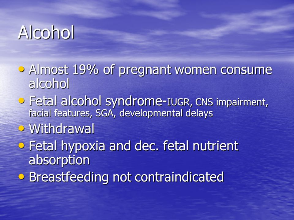 Cocaine Approx.1 in 10 pregnant women are believed to use cocaine Approx.