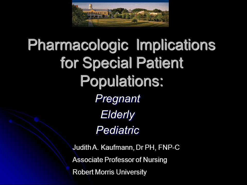 Vulnerable Populations: At Most Risk for Adverse Drug Effects and Reactions