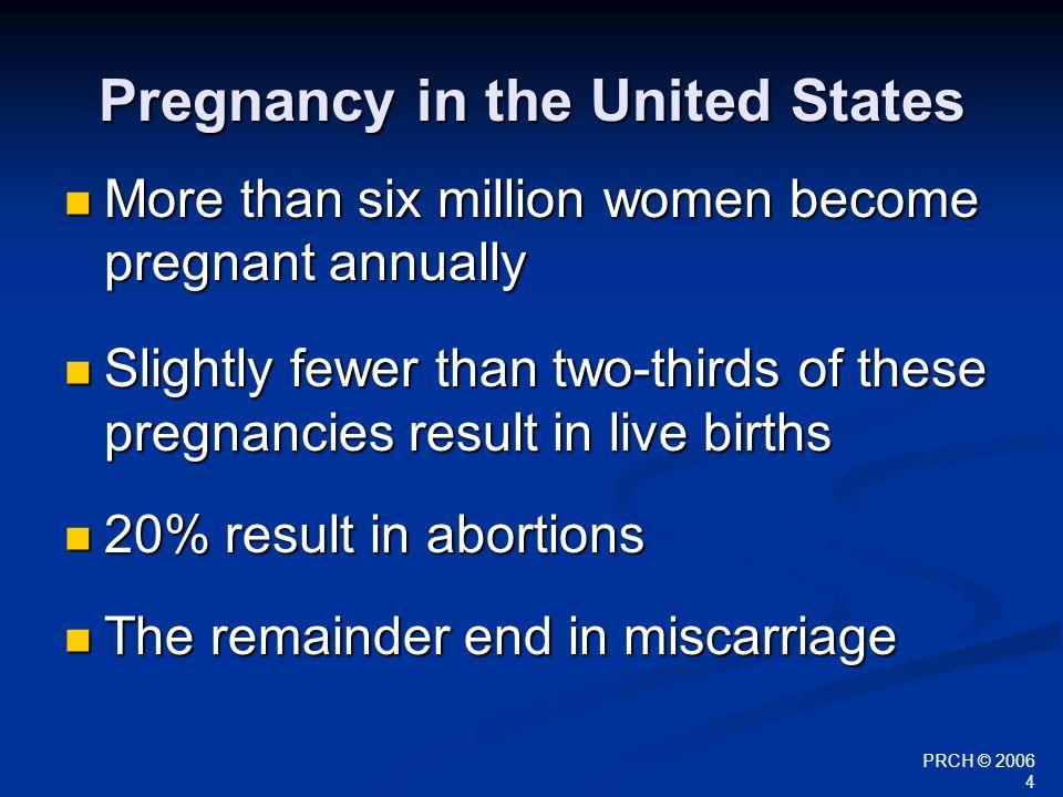 PRCH © 2006 25 Pregnancy Termination Options