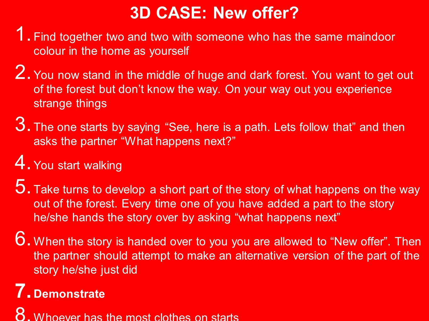 3D CASE: New offer. 1.