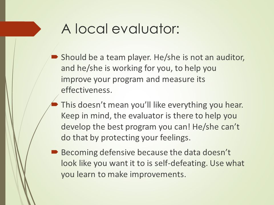 Knowing when you need help…  When is it appropriate/important to work with a professional evaluator.