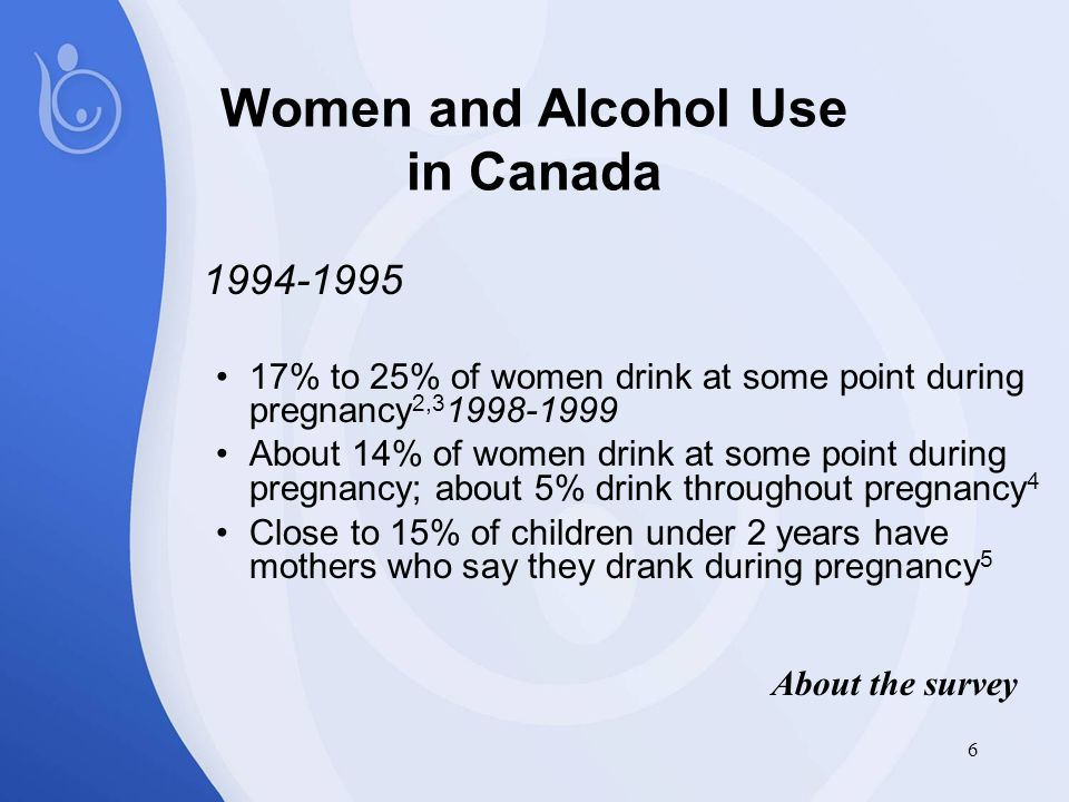 17 Survey results suggest…  Attitudes, prevention practices among providers are improving  Providers want, need support and resources to work effectively with women clients re: alcohol abuse  Some need better education… some still advise moderate drinking during pregnancy On the prevention front