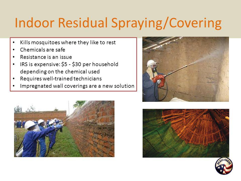 Indoor Residual Spraying/Covering Q: Hey, waaaaaiiiit a minute… Didn't Al Gore say poison was bad.