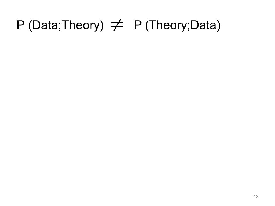 18 P (Data;Theory) P (Theory;Data)
