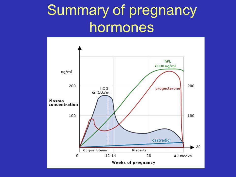 Summary of pregnancy hormones