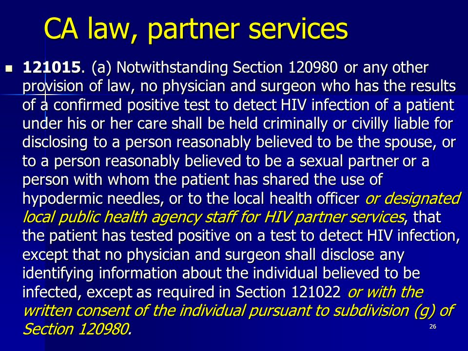CA law, partner services 121015.