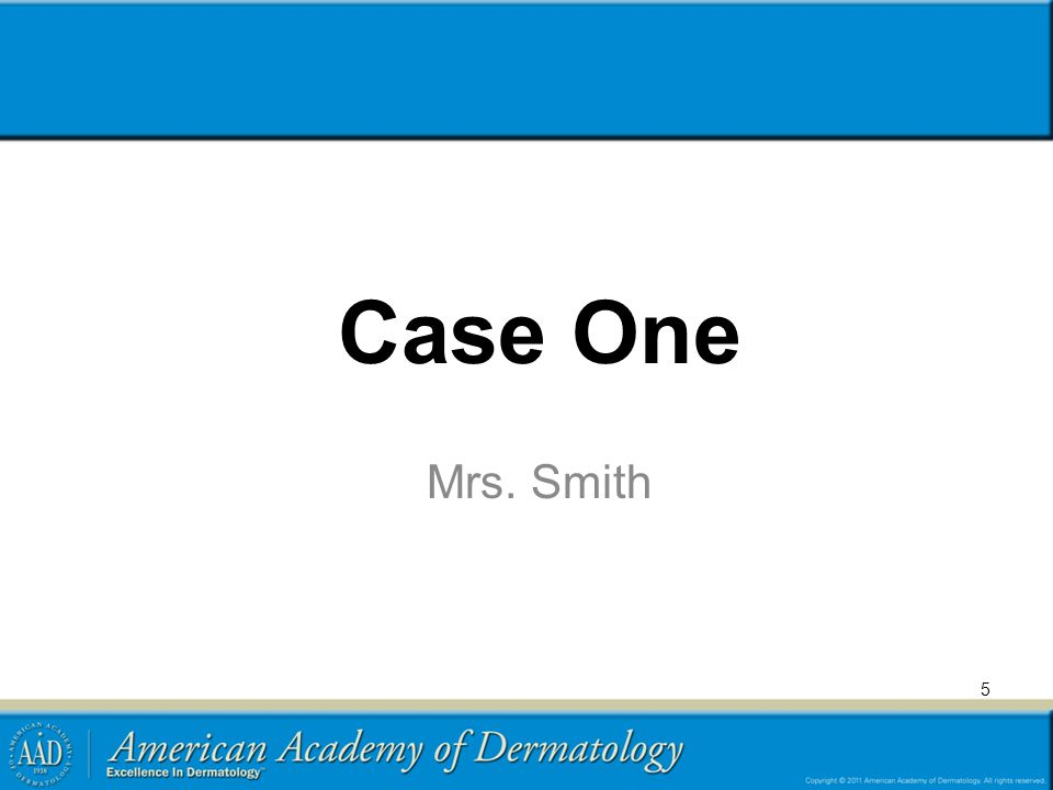 5 Case One Mrs. Smith