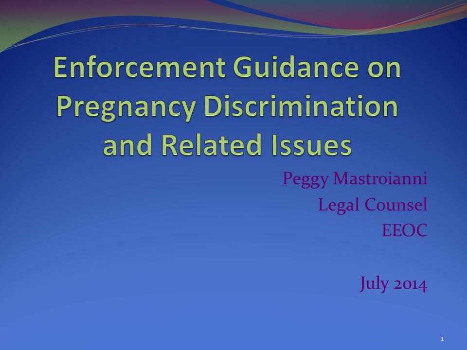Pregnancy Issues and the Strategic Enforcement Plan One of the six national priorities identified in Strategic Enforcement Plan (SEP) is litigating emerging or developing issues One such emerging or developing issue is accommodating pregnancy-related limitations under the Americans with Disabilities Act Amendments Act (ADAAA) and the Pregnancy Discrimination Act (SEP, Part III.B.3) 2