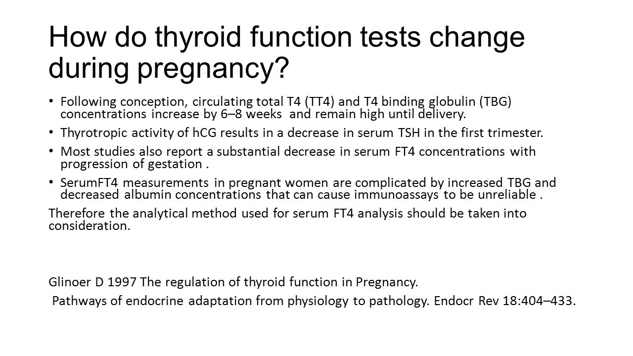 Timing and Magnitude of Increases in Levothyroxine Requirements during Pregnancy in Women with Hypothyroidism Erik K.