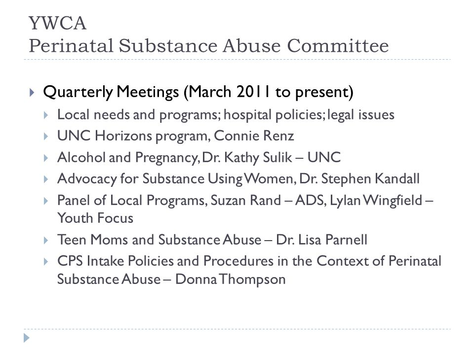 Aims & Questions  Identify & document needed and available resources for P&P female substance users  What resources are needed for population.