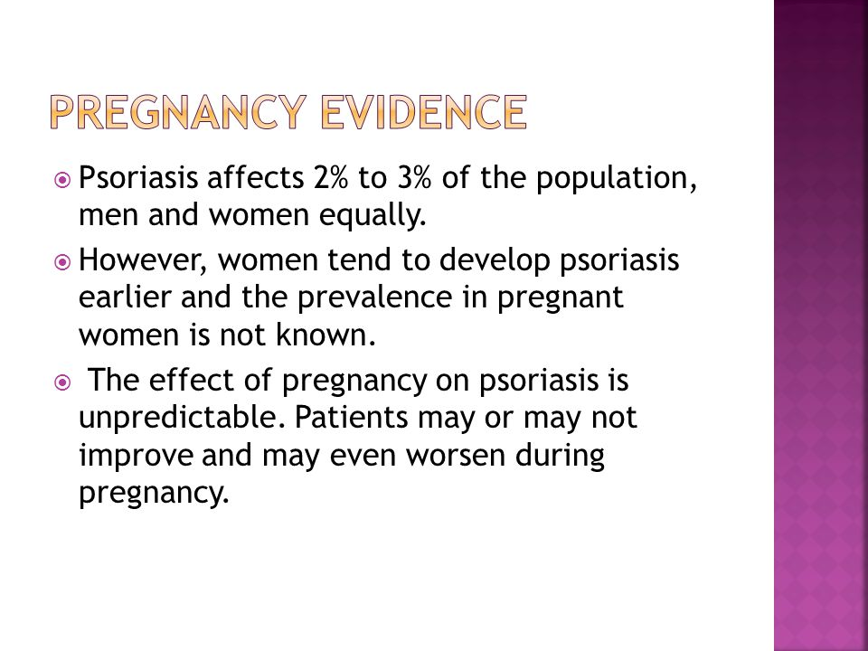  Psoriasis affects 2% to 3% of the population, men and women equally.