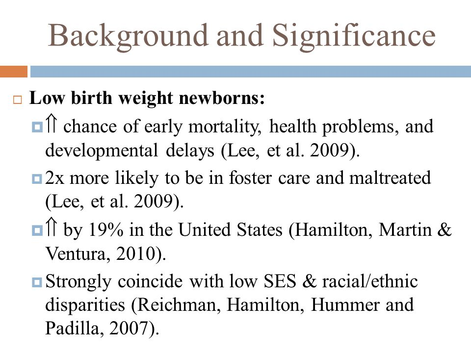 Searchable Question  What are significant interventions for preventing low birth weight newborns in high- risk populations?