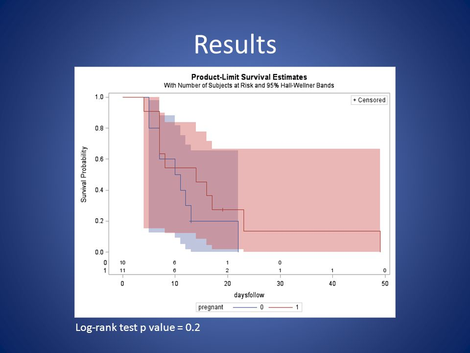 Results Log-rank test p value = 0.2