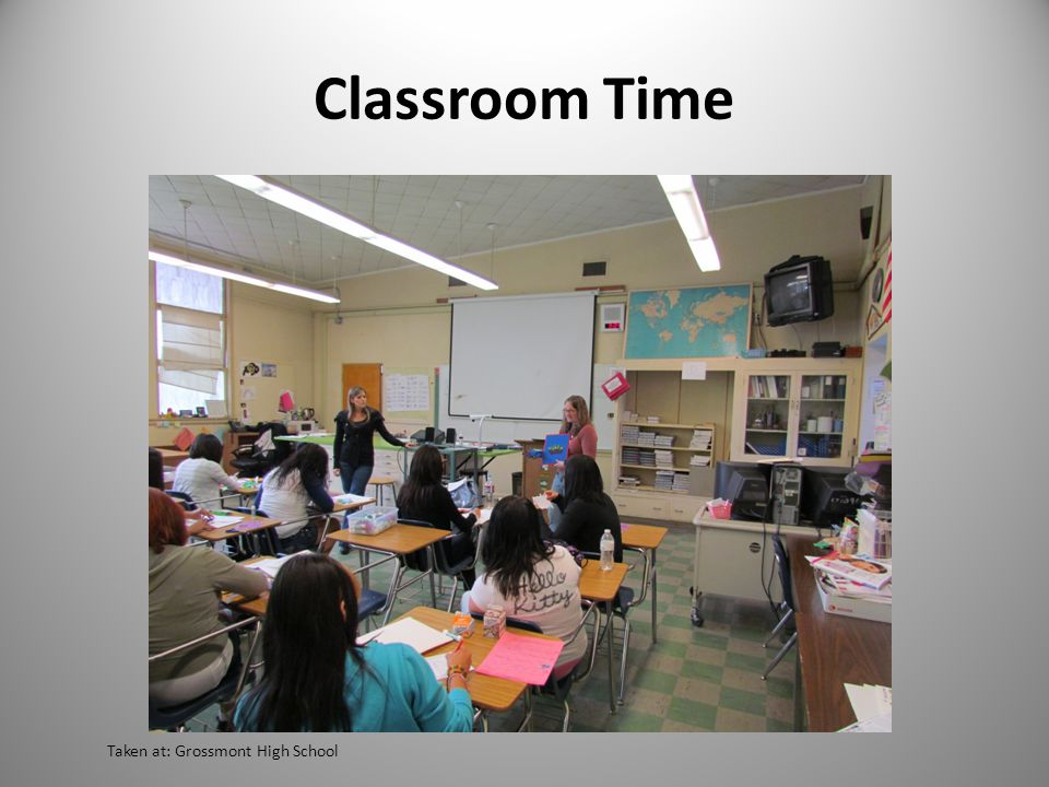 Classroom Time Taken at: Grossmont High School